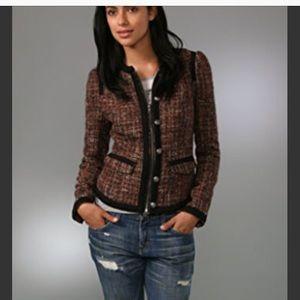 FP COCO TWEED wool blend pockets blazer jacket
